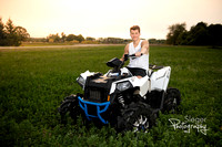 Green Bay Pulaski Boy Car Senior Portraits